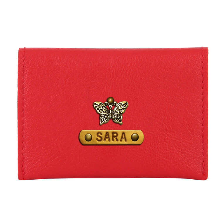 Personalized Business Card Holder - Red