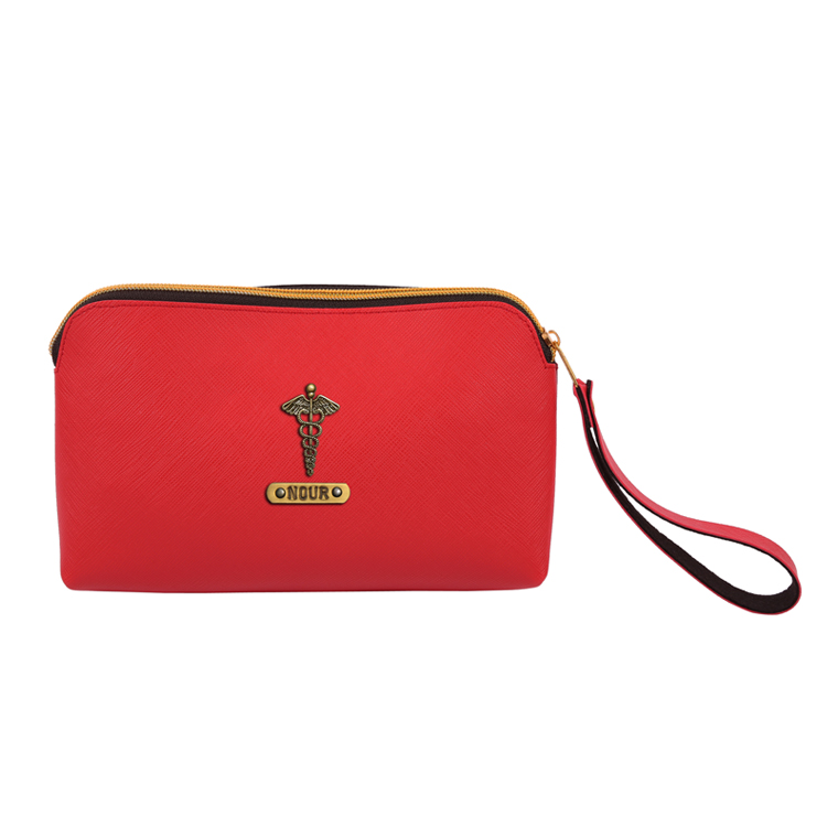 Personalized Cosmetic Pouch - Red