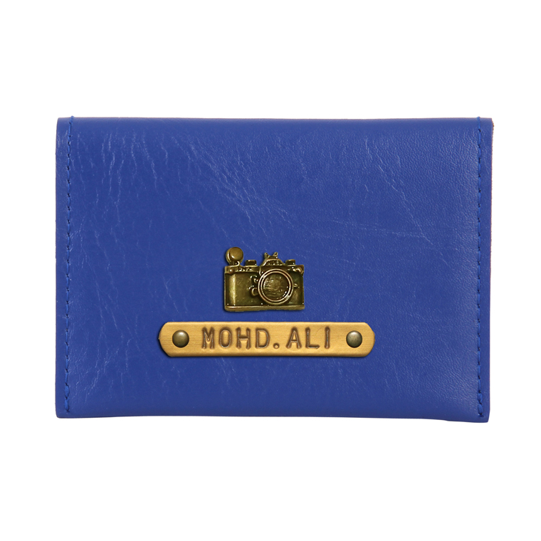 Personalized Business Card Holder - Navy Blue