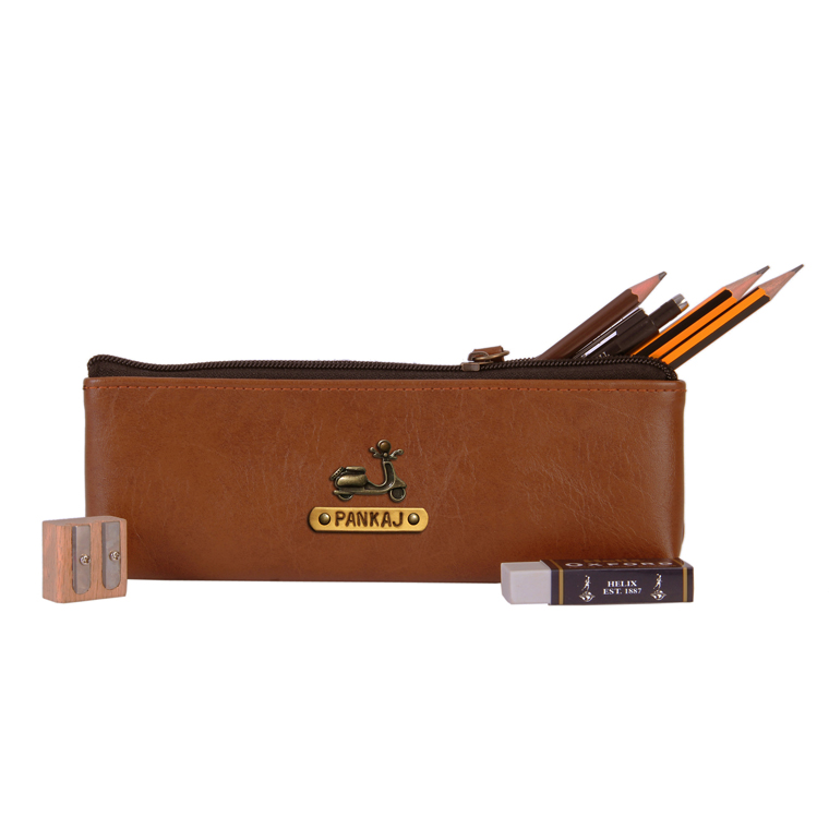 Personalized Pencil Pouch - Chocolate Brown