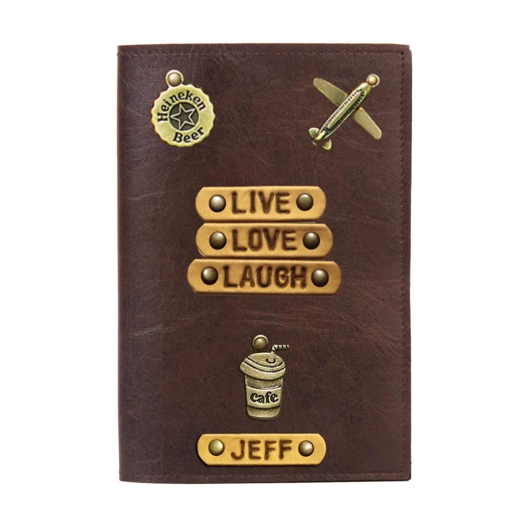 Personalised Passport Cover - Live Love Laugh