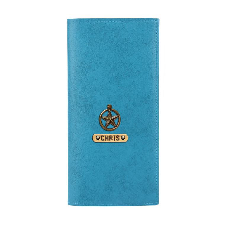 Personalized Travel Wallet - Turquoise