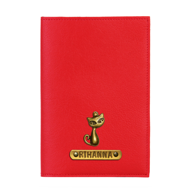 Personalized Passport Cover - Red