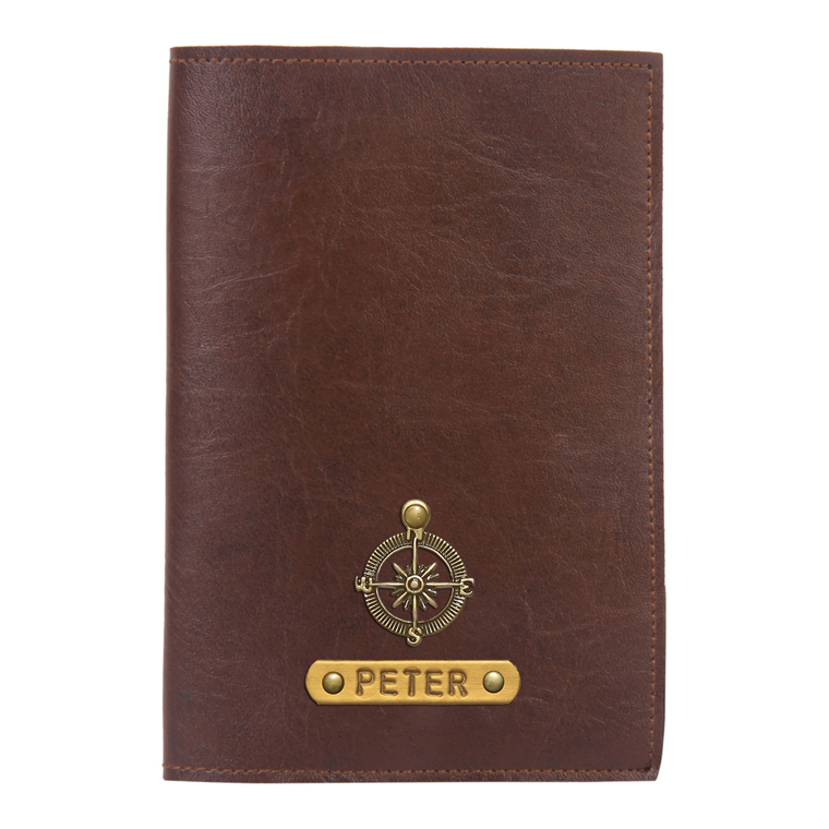 Personalized Passport Cover - Dark Brown