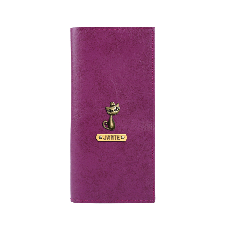 Personalized Travel Wallet - Dark Purple