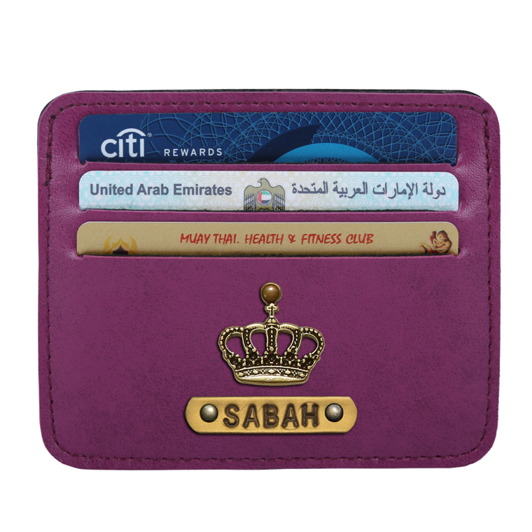 Personalized Classic Card Holder - Dark Purple