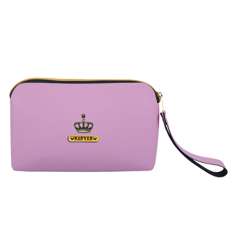 Personalized Cosmetic Pouch - Lavender