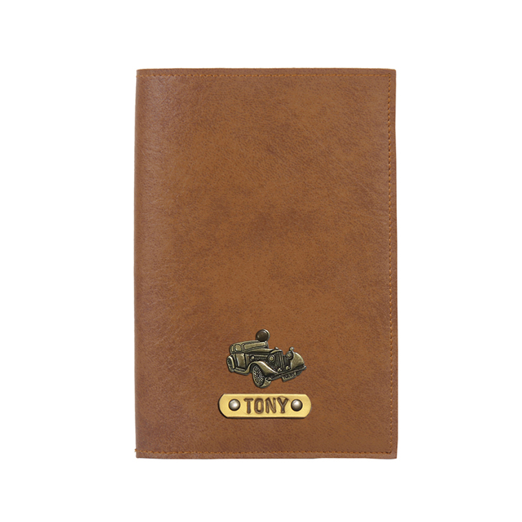 Personalized Passport Cover - Tan Brown