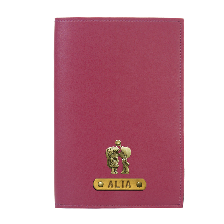 Personalized Passport Cover - Wine