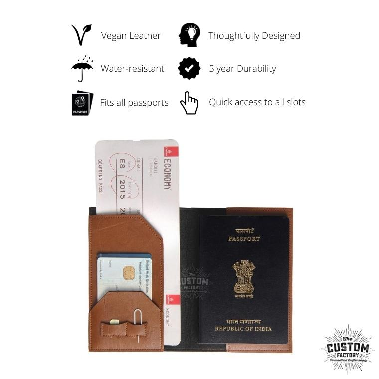 Mr & Mrs Personalised Passport Cover