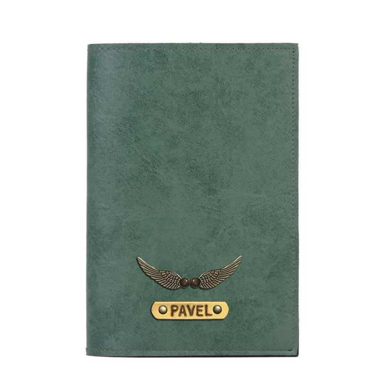 Personalized Passport Cover - Forest Green