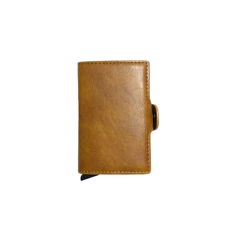 Personalized Double RFID Mens Wallet - Chocolate Brown