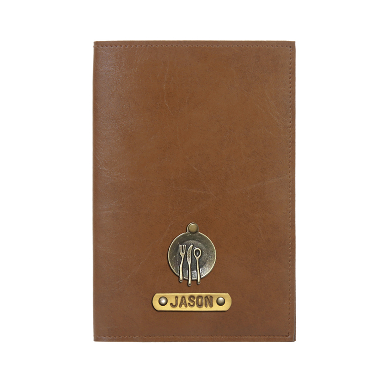 Personalized Passport Cover - Chocolate Brown
