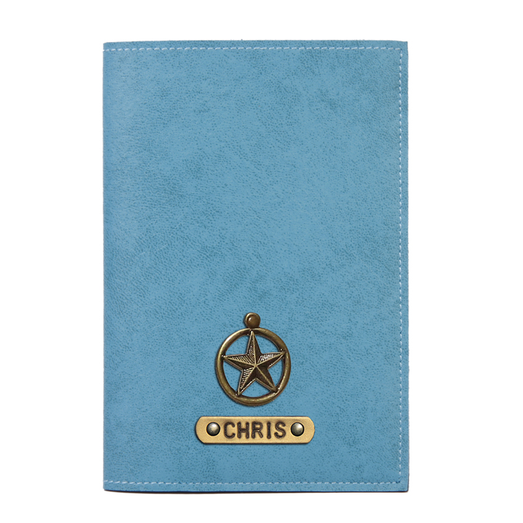 Personalized Passport Cover - Turquoise