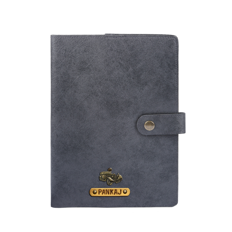 Personalised Diary Cover - Grey