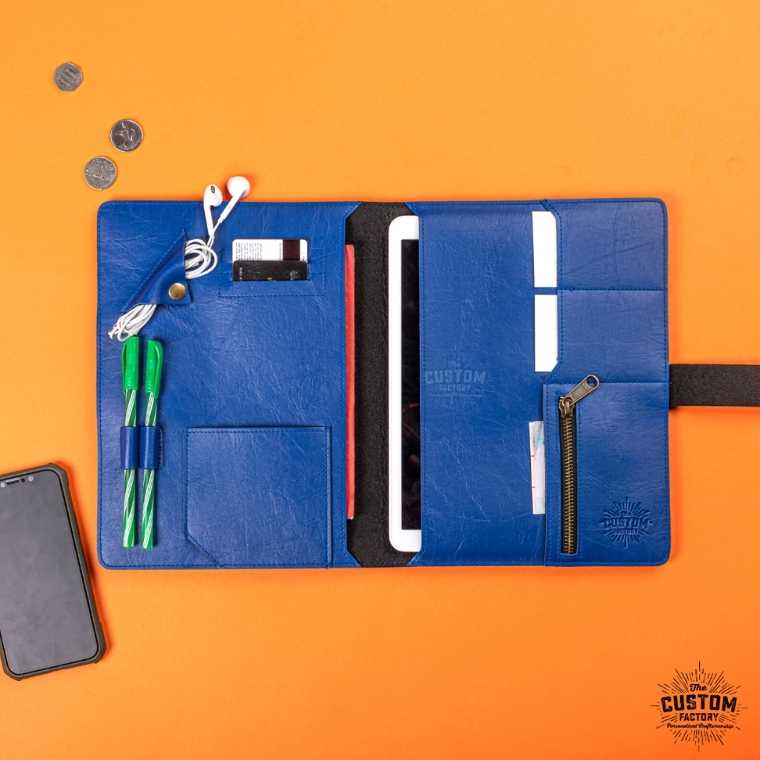 Personalized Work Folio - Navy Blue