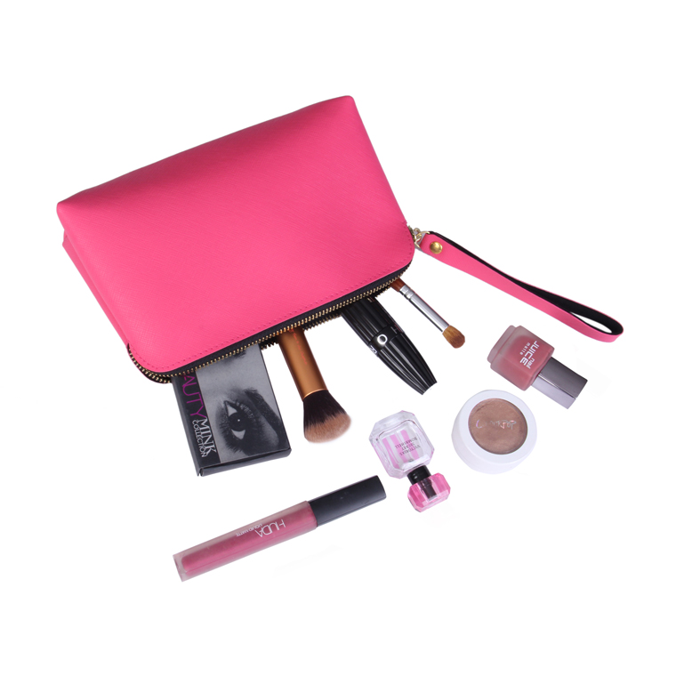 Hot Pink Customized Makeup Pouch
