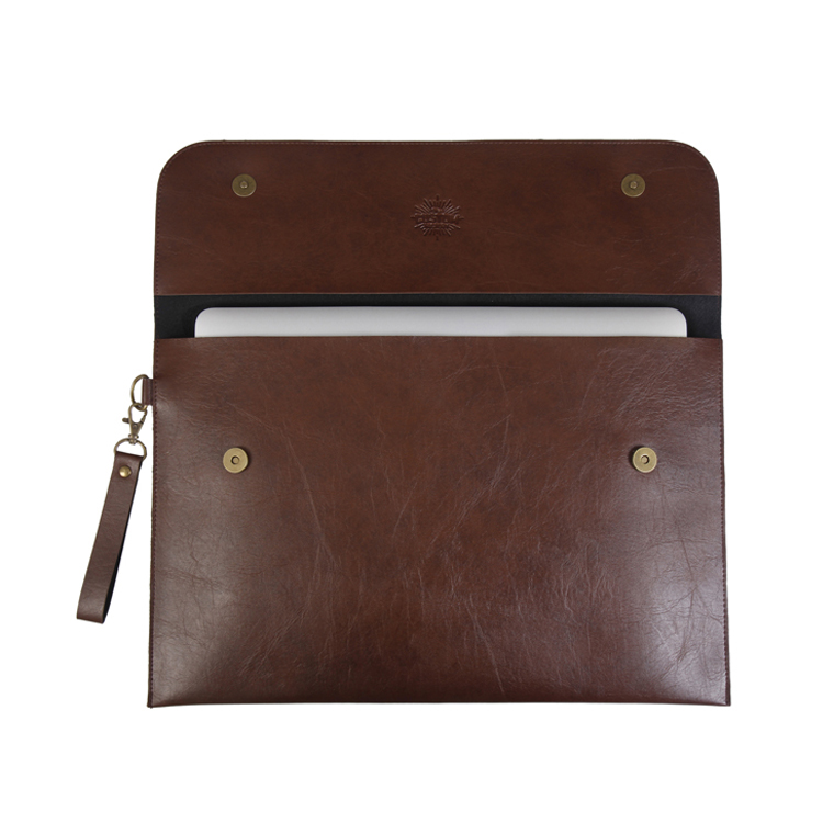 Personalized Laptop Cover 13 inch - Dark Brown