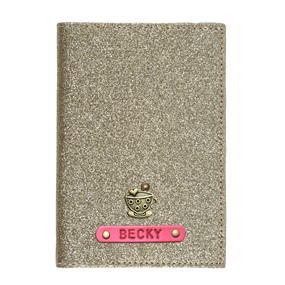 Personalized Passport Cover - Glitter Gold
