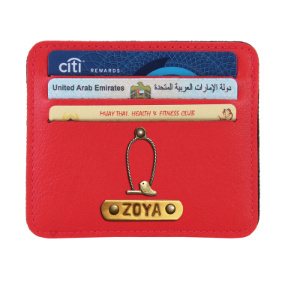 Personalized Classic Card Holder - Red