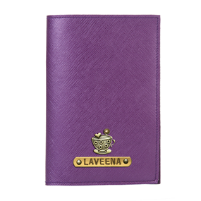 Personalized Passport Cover - Electric Purple