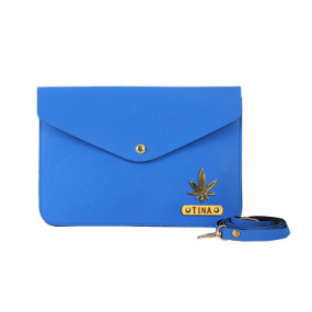 Personalized Women's Medium Clutch - Royal Blue