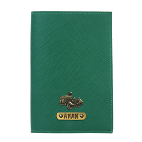 Personalized Passport Cover - Dark Green