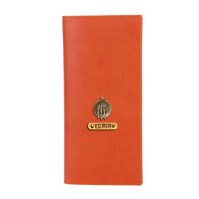 Personalized Travel Wallet - Orange