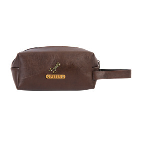 Personalized Toiletry Pouch - Coffee