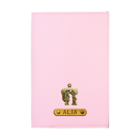 Personalized Passport Cover - Baby Pink