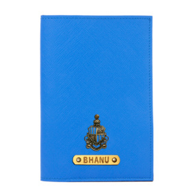 Personalized Passport Cover - Royal Blue