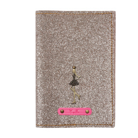 Personalized Passport Cover - Glitter Rose Gold