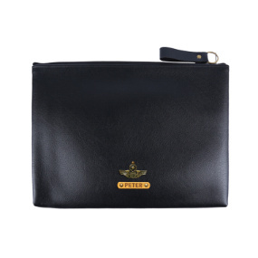 Personalized Zipper Laptop Cover 15 inch - Carbon Black