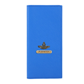 Personalized Travel Wallet - Royal Blue