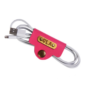 Personalized Cable Holder - Hot Pink