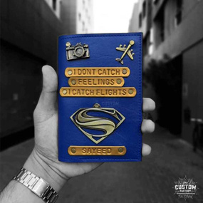 Personalized Passport Cover - Superman Passport Cover