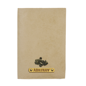 Personalized Passport Cover - Beige