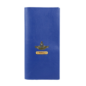 Personalized Travel Wallet - Navy Blue