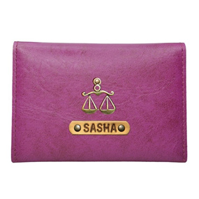 Personalized Business Card Holder - Dark Purple