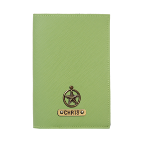 Personalized Passport Cover - Parrot Green