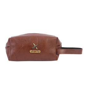 Personalized Toiletry Pouch - Dark Brown