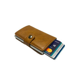 Personalized Mens RFID Wallet - Chocolate Brown