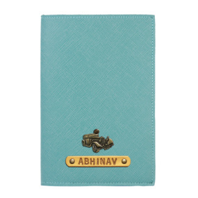 Personalized Passport Cover - Jade (Mint Green)