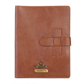 Personalized Work Folio - Chocolate Brown
