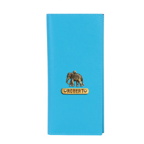 Personalized Travel Wallet - Tiffany Blue