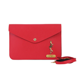 Personalized Women's Medium Clutch - Red