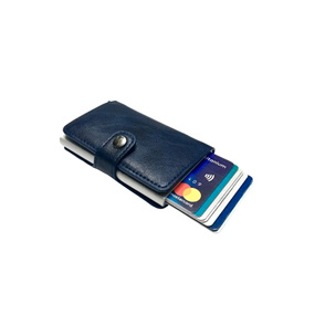 Personalized Single RFID Mens Wallet - Navy Blue