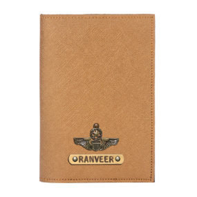 Personalized Passport Cover - Electric Bronze