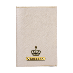 Personalized Passport Cover - Gold