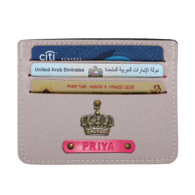 Personalized Classic Card Holder - Rose Gold